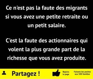 pas la faute des migrants